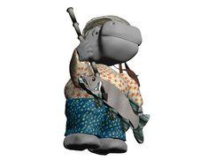 White Hippo Adventurer 2 Stock Photography