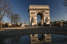 Arc De Triomphe Front View Royalty Free Stock Photography