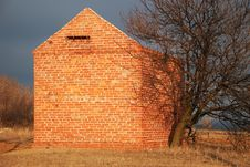 Free Brick Building And Dry Tree Stock Photo - 4282940
