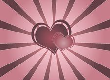 Free Pink Hearts Vortex Background Royalty Free Stock Image - 4283426
