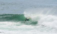 Free Surfer Surfing Dump Wave Stock Photos - 4283763