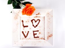 Chocolate Love Stock Images