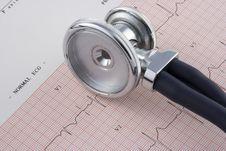 Free EKG And Stethoscope Stock Photos - 4284233
