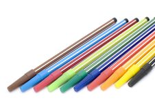 Free Markers Close Up Stock Image - 4284931
