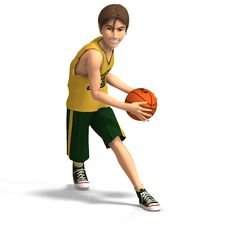 Young Man Plays Basketball Royalty Free Stock Photography