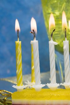 Free Cake And Candles Stock Image - 4286041