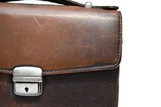 Old Brief Case On Isolated Background Royalty Free Stock Photography