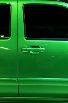 Free Door Of Green Pickup Truck Stock Images - 4288024