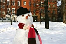 Free Snowman Stock Image - 4288431