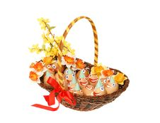 Free Eggs In Brown Basket Royalty Free Stock Photos - 4289218