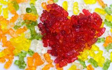 Sweet Jelly Heart. Royalty Free Stock Photo