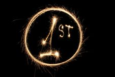 Free First Number One Sparkler Ring Royalty Free Stock Photos - 4289408