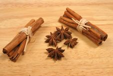 Cinnamom And Star Anise Royalty Free Stock Photo