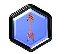 Free Pentagon Button Royalty Free Stock Photos - 4290538
