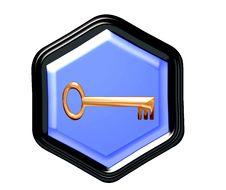 Free Pentagon Button Royalty Free Stock Photos - 4290548