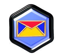 Pentagon Button Royalty Free Stock Image
