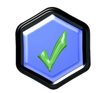 Free Pentagon Button Royalty Free Stock Images - 4290569
