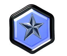 Free Pentagon Button Stock Photography - 4290572