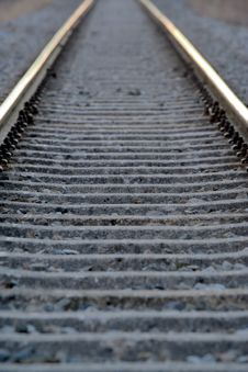 Free Railroad Tracks Royalty Free Stock Photo - 4290655