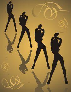 Free Dancing Girls Royalty Free Stock Photos - 4290728