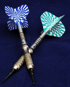 Free Two Darts Royalty Free Stock Photo - 4291405
