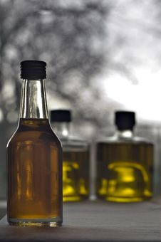 Free Three Bottles Of Olive Oil Stock Photos - 4291473