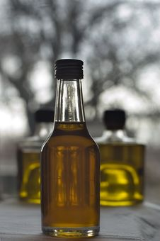Free Three Bottle Of Olive Oil Royalty Free Stock Image - 4291486