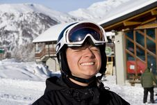 Free The Portrait Of Happy Snowboarder Stock Images - 4291624