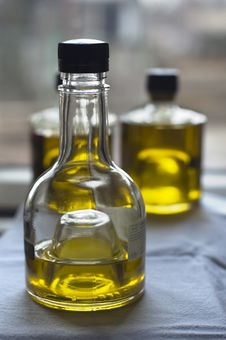 Free Three Bottles Of Olive Oil Stock Photos - 4291643