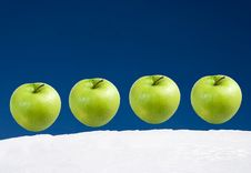 Free Set Of Apples On A Background Of The Sky Royalty Free Stock Photo - 4291845