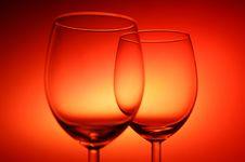 Free Two Empty Glasses Stock Photo - 4292230