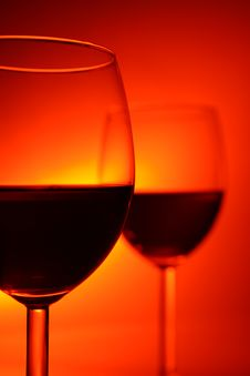 Free Two Glasses Royalty Free Stock Image - 4292296