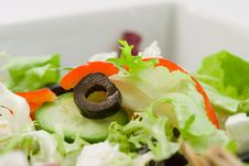 Free Olive In Salad Royalty Free Stock Photo - 4292615