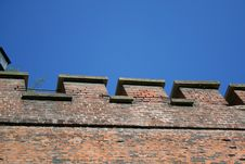 Free Fortress Wall. Krakow. Poland. Stock Images - 4293244