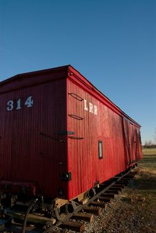 Free The Retired Caboose. Stock Image - 4293631