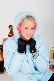 Free Cute Pink Muffs For Chilly Winter Stock Photos - 4293693