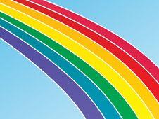 Free Large Rainbow Background Royalty Free Stock Photos - 4293748