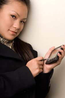 Free Female Entering Data Into PDA 2- Technology Serie Stock Images - 4294274