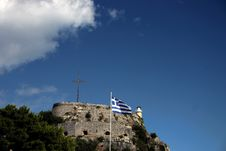 Free Greek Flag Royalty Free Stock Photography - 4295077