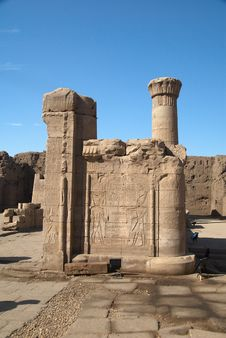 Part Of The Edfu Temple Stock Images