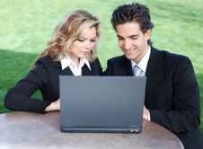 Free Business Team With Laptop Royalty Free Stock Photo - 4295485