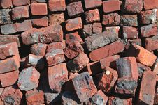 Free Old Red Brick Pile Background Royalty Free Stock Image - 4295846
