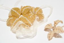 Free Flower From Beads On White Background Royalty Free Stock Photo - 4295915