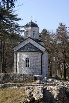 Small Orthodox Church With A Cupola Royalty Free Stock Photo