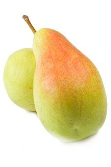 Free Two Fresh Pears On Isolated Background Stock Photos - 4296543