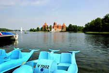 Trakai Island Castle Landscape 2 Stock Photos