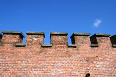 Fortress Wall From The Bricks. Background, Texture Stock Images