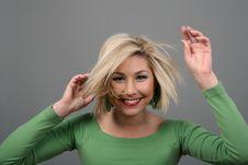 Free Blonde Messing Up Hair Stock Image - 4297491