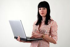 Free Women With Laptop Stock Images - 4297874
