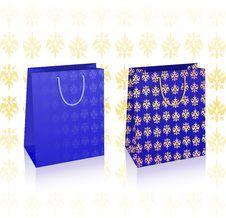 2 Vector Royal Blue Bags Royalty Free Stock Photos